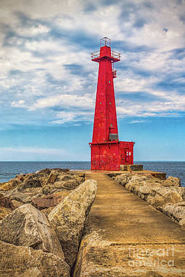 Muskegon Lighthouse Wall Art - Photograph - Light In Muskegon by Nick Zelinsky