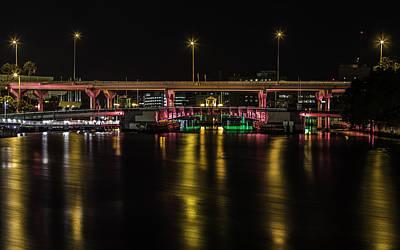 Photograph - Pink And Gold Bridge  by Paula Porterfield-Izzo