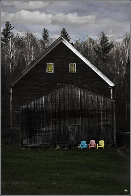 Photograph - Light In The Barn Attic by Wayne King