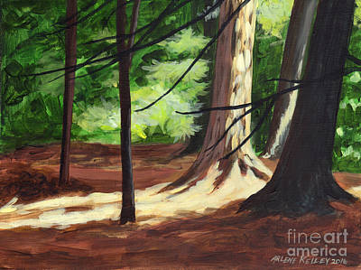 Painting - Light In The Forest by Arlene Kelley