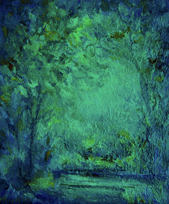 Painting - Light In The Forest by Mary Wolf