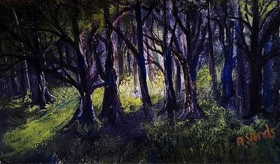 Painting - Light In The Forrest by Anne Sands