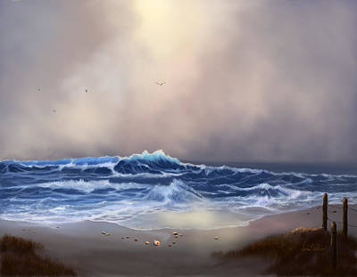 Light In The Storm Print by Sena Wilson