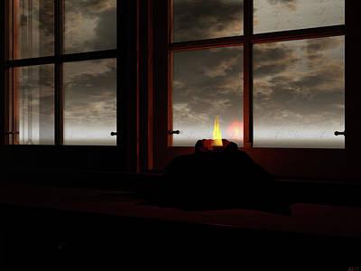 Digital Art - Light In The Window by Michele Wilson