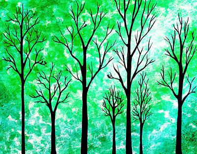 Painting - Light In The Woods Abstract by Irina Sztukowski