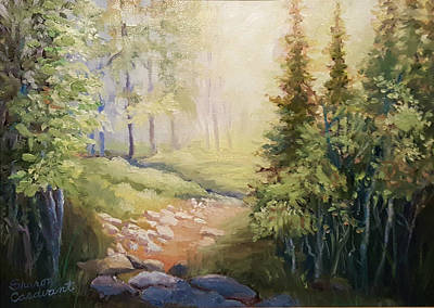 Painting - Light In The Woods by Sharon Casavant