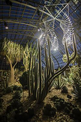 Installation Art Photograph - Light Installation In The Desert by Sven Brogren