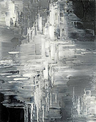 Titanium White Painting - Light Into The Darkness by Tatiana Iliina