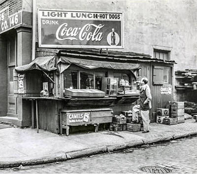 Hot Dogs Photograph - Light Lunch - Hot Dogs - Coca Cola by Bill Cannon