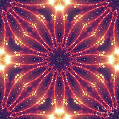 Digital Art - Light Mandala by Mo T