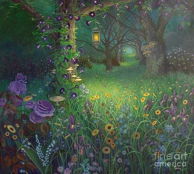 Wild Asters Painting - Light My Way by Shauna Eggleston