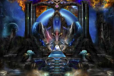 Digital Art - Light Of Ancient Wisdom by Xzendor7