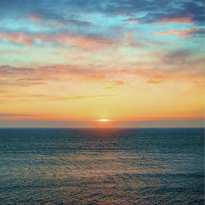 Photograph - Light Of Day - Ocean Sunset Sunrise by Gregory Ballos