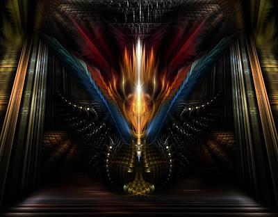Digital Art - Light Of Fire by Xzendor7