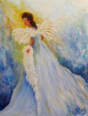 Light Of Grace,angel Art Print