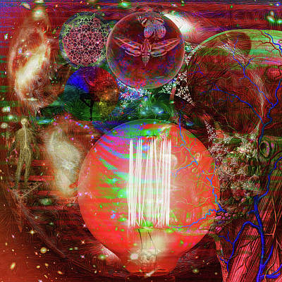 Digital Art - Light Of Man Multidimentional Sight by Joseph Mosley