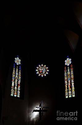 Light Of The Cross In The Dark Original by Elzbieta Fazel