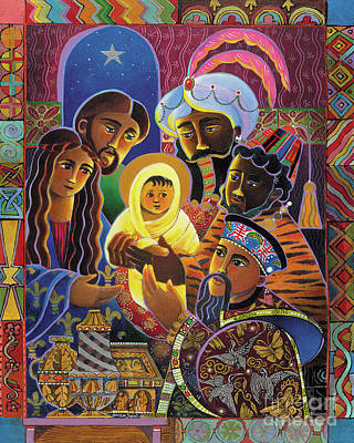 Painting - Light Of The World Nativity - Lwn by Br Mickey McGrath OSFS
