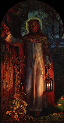 Wonders Of The World Painting - Light Of The World by William Holman Hunt