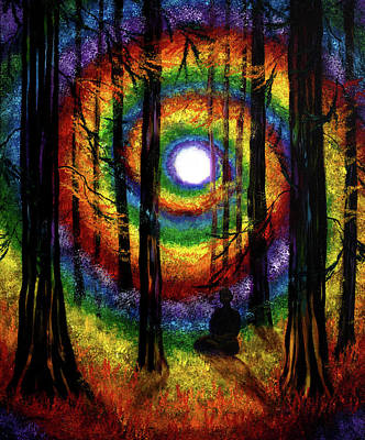 Redwoods Painting - Light Of Tolerance by Laura Iverson