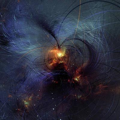 Digital Art - Light Of Your Heart Abstract by Georgiana Romanovna