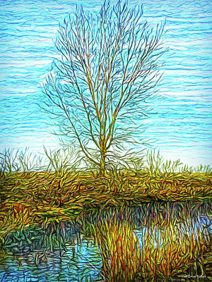 Digital Art - Light On A Morning Pond by Joel Bruce Wallach