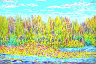 Digital Art - Light On Autumn Lake by Joel Bruce Wallach