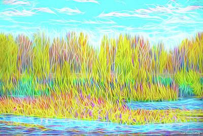 Digital Art - Light On Autumn Lake by Joel Bruce Wallach