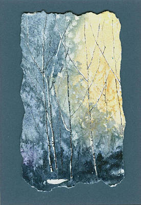 Painting - Light On Bare Trees 1 by Jerry Kelley