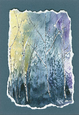 Painting - Light On Bare Trees 2 by Jerry Kelley