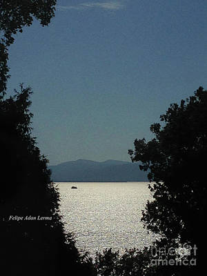 Rights Managed Images Photograph - Image Included In Queen The Novel - Light On Lake Champlain 20of74 by Felipe Adan Lerma