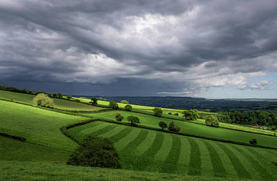 Photograph - Light On Mid Devon Hills by Pete Hemington