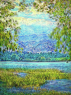 Digital Art - Light On Mountain Lake by Joel Bruce Wallach