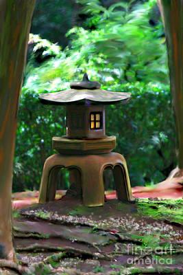 Light-on Pagoda Art Print