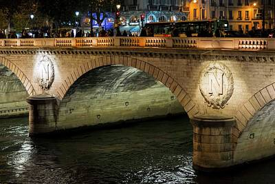 Photograph - Light On Pont Notre-dame  by Hany J