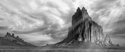 Designs In Nature Photograph - Light On Shiprock by Jon Glaser