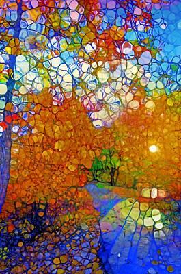 Light On The Autumn Path Art Print