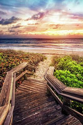 Photograph - Light On The Boardwalk by Debra and Dave Vanderlaan