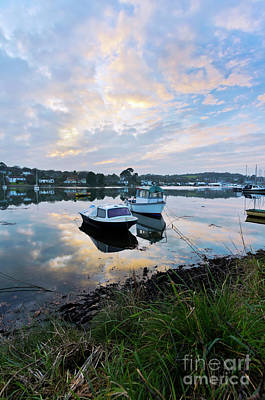 Light On The Boats Print by Terri Waters