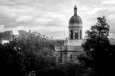 Cherokee County Photograph - Light On The Courthouse In Black And White by Greg Mimbs