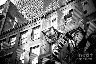 Photograph - Light On The Fire Escape by John Rizzuto