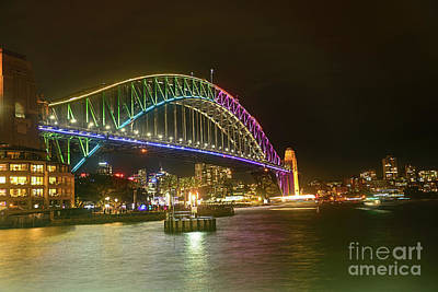 Photograph - Light On The Harbor Vivid Sydney By Kaye Menner by Kaye Menner