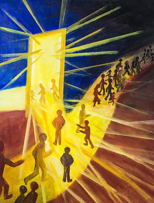 Painting - Light On The Path by Jutta B