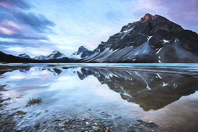 light on the peak II Print by Jon Glaser