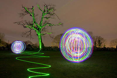 Photograph - Light Orbs 2 by Dominick Moloney