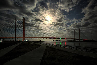 Photograph - Lights Out At The Indian River Bridge by Bill Swartwout