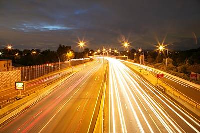 Light Over A Freeway Art Print