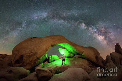 Light Painting Arch Rock Art Print by Michael Ver Sprill