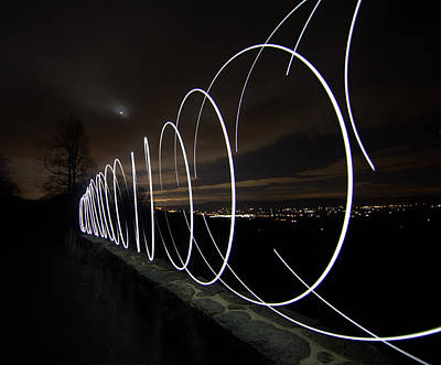 Light Painting In Snp Art Print by Shannon Louder
