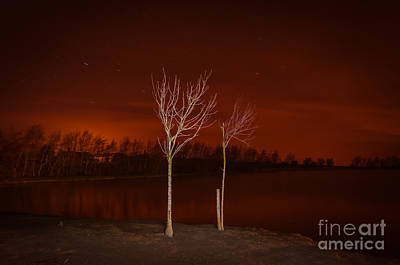Photograph - Light Painting by Mariusz Talarek